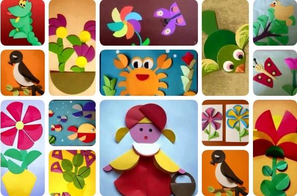 applications-of-colored-paper-templates-12 Аппликации из цветной бумаги шаблоны распечатать для детей 2-3, 4-5, 6-7 лет. Фото. тема осень, зима, весна