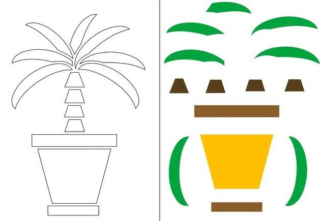 applications-of-colored-paper-templates-3 Аппликации из цветной бумаги шаблоны распечатать для детей 2-3, 4-5, 6-7 лет. Фото. тема осень, зима, весна