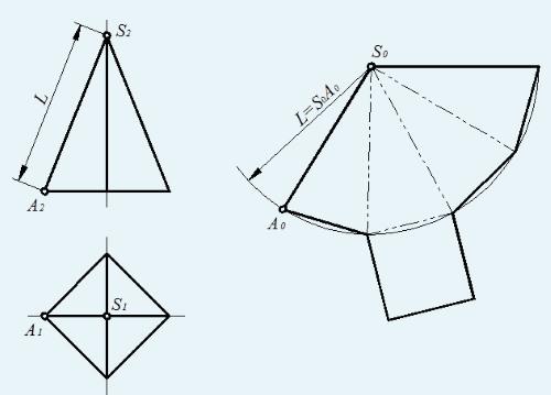 Как сделать пирамиду чертеж фото 828
