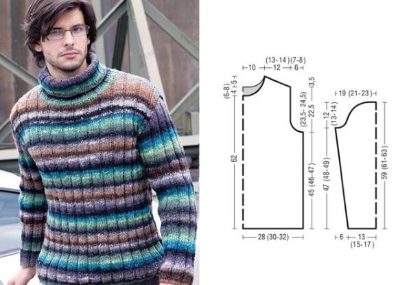 Как связать мужской свитер спицами. Схемы с описаниями для начинающих, фото и видео уроки