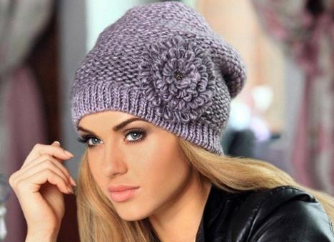 вязаная шапка спицами женская с описанием для начинающих бини