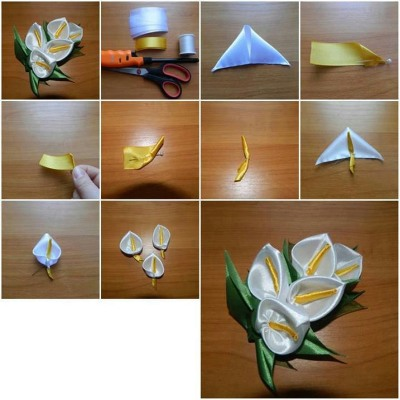 Цветы из лент своими руками. Интересные мастер классы пошагово с фото и видео