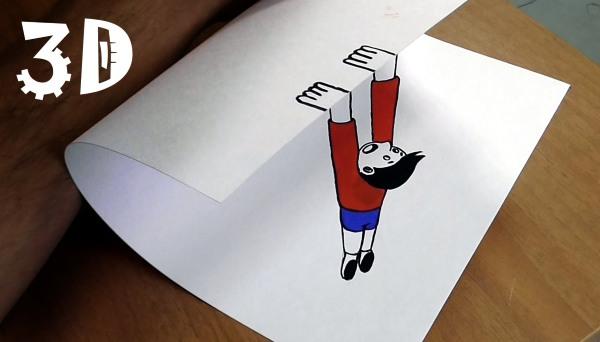3д рисунки на бумаге. Мастер класс для начинающих: как рисовать поэтапно карандашом и ручкой: лестница, сердце, капли воды, подземелье