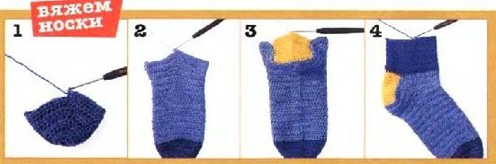 Как связать носки на спицах, крючком для начинающих. Пошаговые инструкции с фото, узоры и схемы