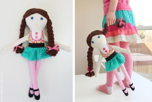 Кукла своими руками для начинающих. Мастер класс, выкройки с пошаговым описанием из ткани, колготок, носка, ниток, пластиковых бутылок, бумаги. Фото