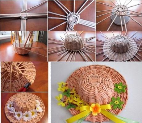 pletenie-iz-gazetnyh-trubochek-dlya-nachinayuschih-10 Как плести из трубочек для плетения: корзинки для начинающих с фото