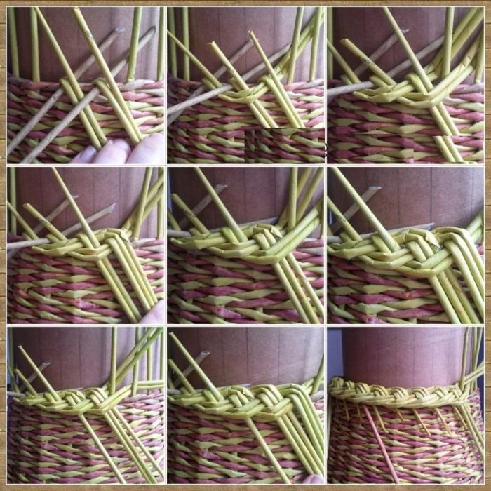 pletenie-iz-gazetnyh-trubochek-dlya-nachinayuschih-111 Как плести из трубочек для плетения: корзинки для начинающих с фото