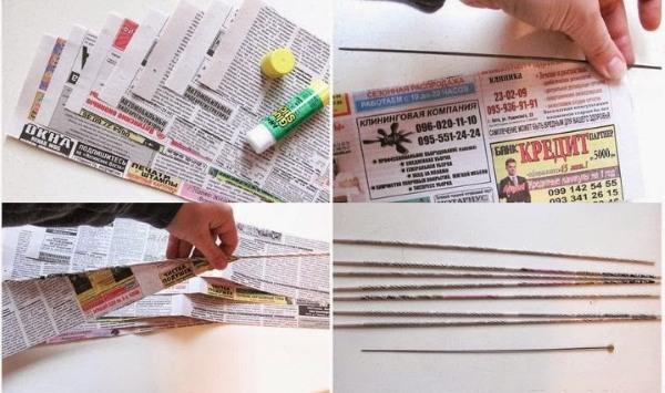 pletenie-iz-gazetnyh-trubochek-dlya-nachinayuschih-2 Плетение из газетных трубочек для начинающих пошагово: техника плетения, мастер класс, фото. Плетение корзин, шкатулок, коробок из газет для начинающих: схемы, загибы, фото