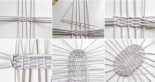 pletenie-iz-gazetnyh-trubochek-dlya-nachinayuschih-5 Плетение из газетных трубочек для начинающих пошагово: техника плетения, мастер класс, фото. Плетение корзин, шкатулок, коробок из газет для начинающих: схемы, загибы, фото