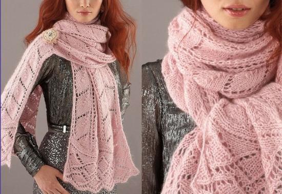 Красивый шарф спицами схема и описание фото 491