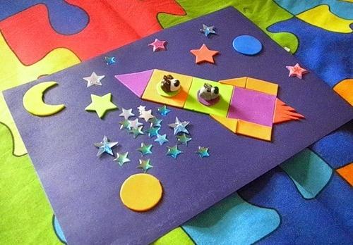 Аппликация из геометрических фигур 1, 2, 3, 4 класс, шаблоны для дошкольников в детском саду, младшей, старшей, подготовительной группе, на тему зима, осень, весна, космос, узоры, картинки