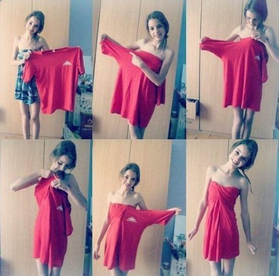 Как из футболки сделать платье своими руками. Выкройка и фото