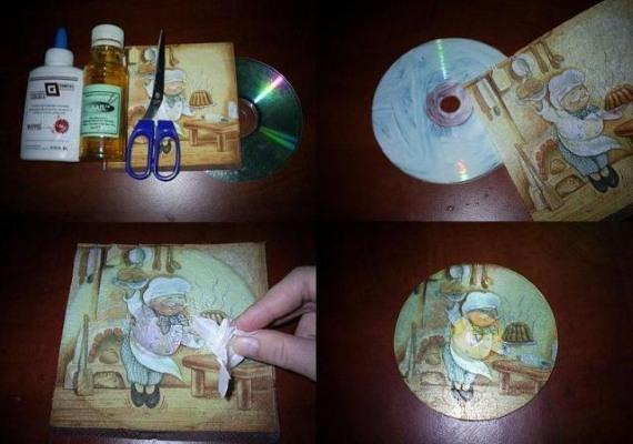 podelki-iz-diskov-20 Какие поделки из дисков можно сделать своими руками? 100 радужных идей