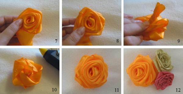 Розы из атласных лент своими руками. Как сделать букет. Подробные мастер-классы с фото