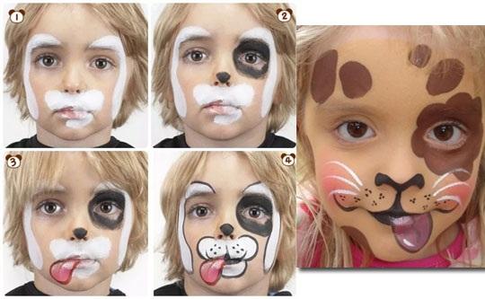 Аквагрим для детей - девочек, мальчиков. Фото на лице, техника выполнения для начинающих, краски