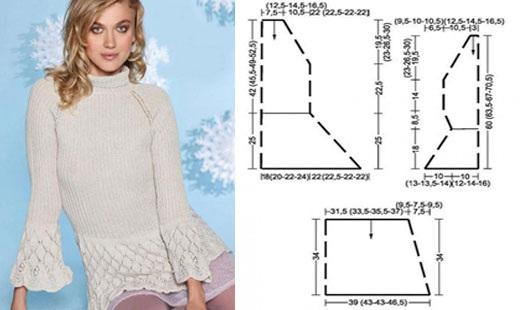 Вязание спицами женского свитера. Модные модели 2019 года, фото со схемами и описанием для начинающих
