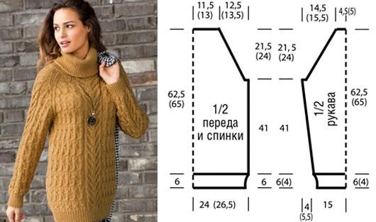 37a882432c2 Вязание спицами женского свитера. Модные модели 2019 года