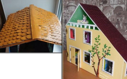 Домик для кукол своими руками из коробок, фанеры, бумаги, дерева пошагово. Чертежи и размеры, схемы, мастер-класс