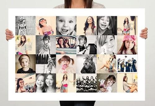 Коллаж из фотографий на День рождения подруге, мужу, ребенку, маме своими руками. Шаблоны, идеи