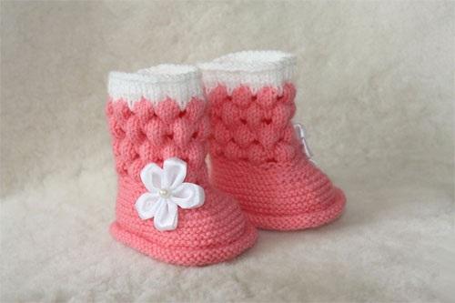 Пинетки спицами для новорожденных. Схемы и описание, размеры без швов, как связать носочки, кеды