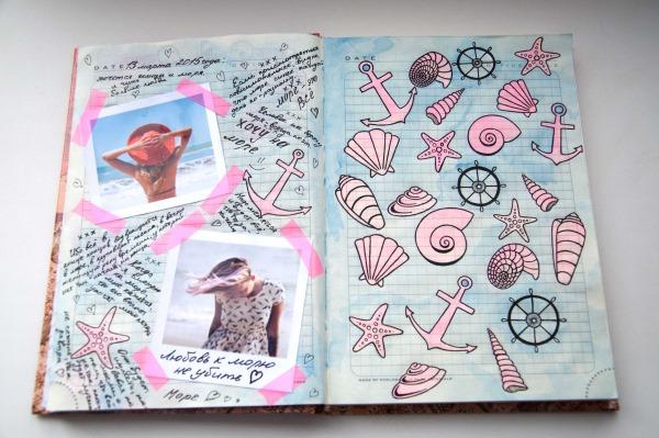 Идеи для личного дневника для девочек. Картинки для срисовки, оформление легко и красиво, рисунки по клеточкам
