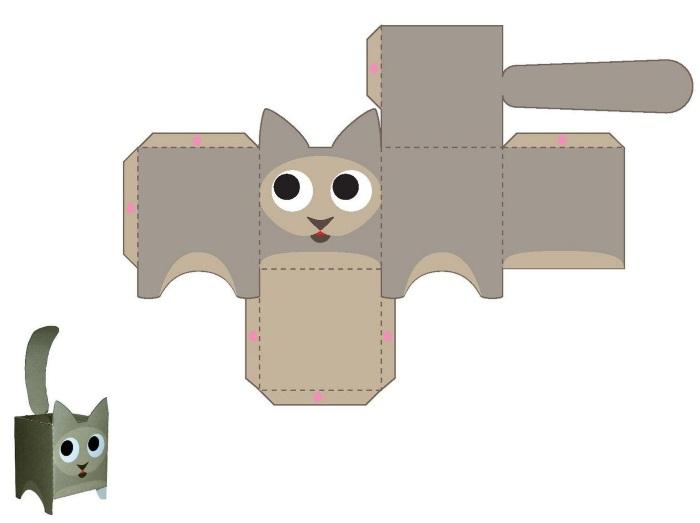 Игрушки из бумаги своими руками. Схемы, шаблоны для детей