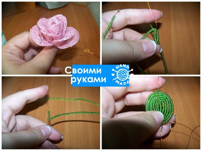 Как сделать розу из бисера своими руками. Мастер-класс пошагово для начинающих
