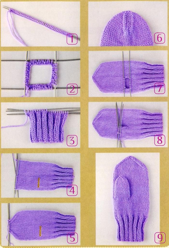 Как связать варежки спицами. Мастер класс, схемы и описание для начинающих