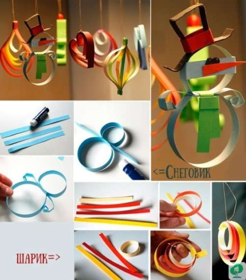 Как сделать елочные игрушки своими руками из подручных материалов. Новогодние, уличные, простые, необычные