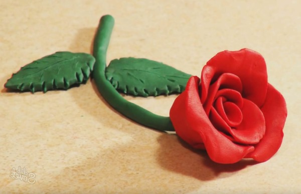 Как сделать розу из пластилина. Аппликация на картоне, объемная. Мастер класс пошагово своими руками для детей