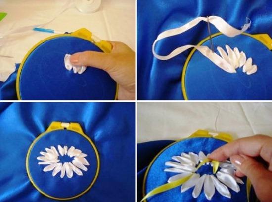 Как вышивать лентами для начинающих. Пошагово уроки: картины, цветы