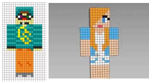 Рисунки карандашом по клеточкам в тетради, 3D, красивые и легкие, простые