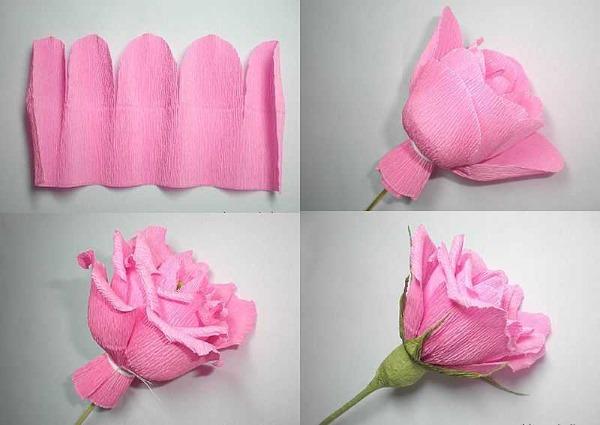 Цветок из бумаги своими руками. Как сделать объемные цветы пошагово