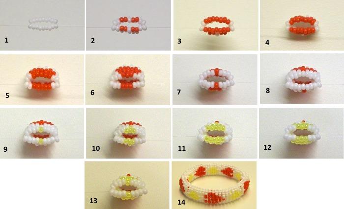 Бисероплетение для начинающих пошагово с фото, схемы. Цветы, браслеты, животные