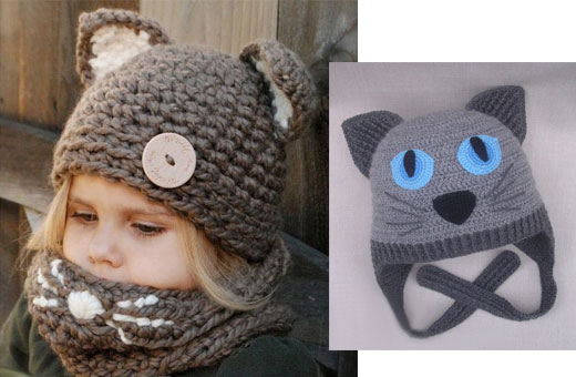 Детская шапка крючком с ушками. Схема вязания с описанием для начинающих
