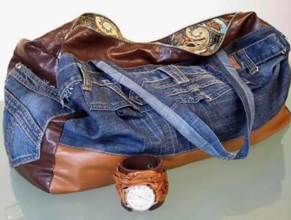 Сумка из джинсов. Как сделать своими руками из старых, выкройка, пошив, как украсить. Фото и видео