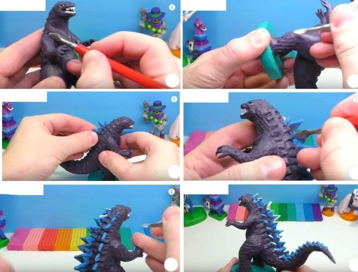 Как слепить дракона из пластилина. Пошаговые инструкции с фото для начинающих
