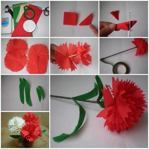 Как сделать цветочки из салфеток своими руками пошагово с фото. Мастер класс