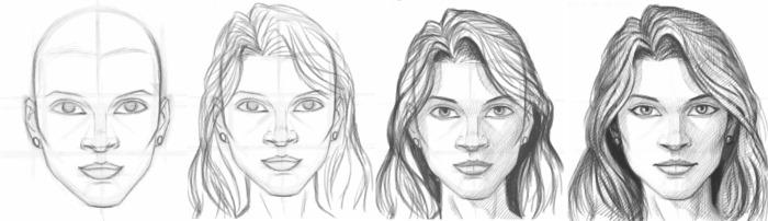 Рисуем поэтапно карандашом для начинающих. Цветы, портрет, лицо человека, глаза, 3д рисунки. Уроки пошагово