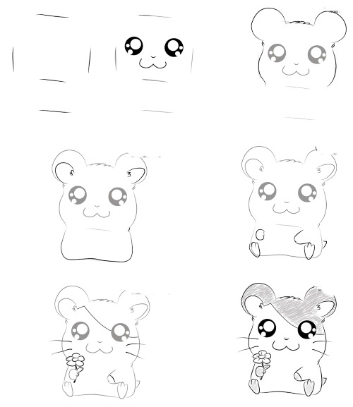 Картинки аниме для срисовки карандашом. Животные, лица девушек, парней поэтапно. Мастер-классы для начинающих
