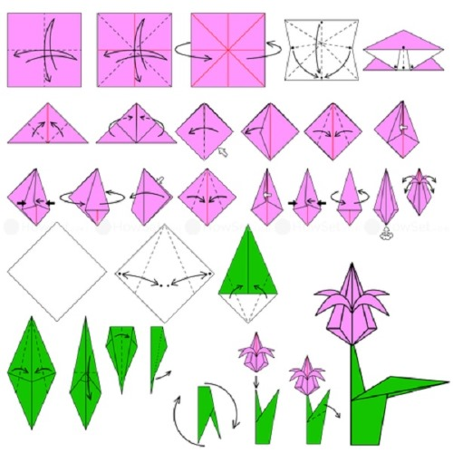 Красивые поделки из бумаги своими руками. Оригами поэтапно, шаблоны, пошагово с фото