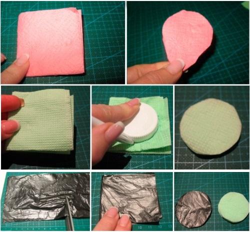 Поделки из бумажных салфеток для детей. Мастер класс пошагово, схемы, фото