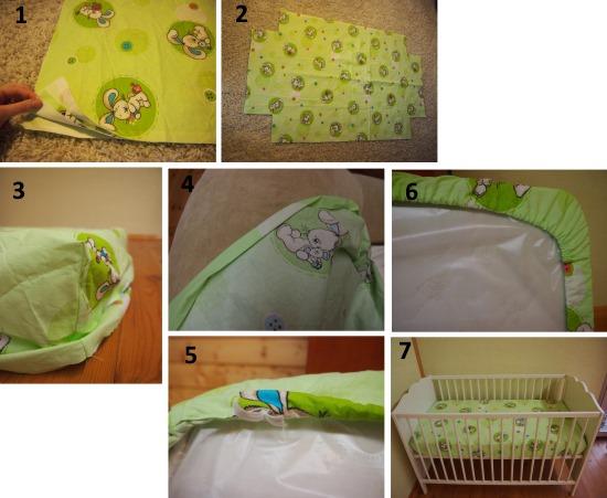Как сшить простыню на резинке для детской кроватки, взрослым. Выкройки, инструкции с фото