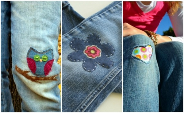 Как заштопать дырку на джинсах вручную, на машинке красиво, с заплаткой и без
