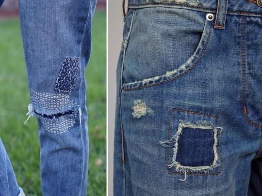 Заплатки на джинсы на колене мальчику, женщине, мужчине. Красивые варианты, фото