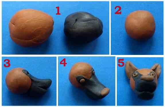 Как слепить из пластилина собаку: хаски, шпица, овчарку, чихуахуа, таксу. Мастер-классы пошагово с фото