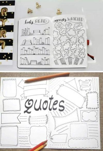 kak-oformit-ld-krasivo-7 Как оформить ЛД красиво и легко 1 страница, внутри без наклеек, своими руками оригинально, прикольно для девочек