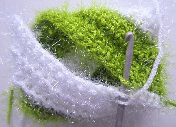Мочалки крючком для начинающих. Пошаговые инструкции: круглая, спиралька, с вытянутыми петлями