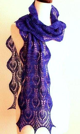 Ажурные шарфы спицами. Схемы и описание для начинающих