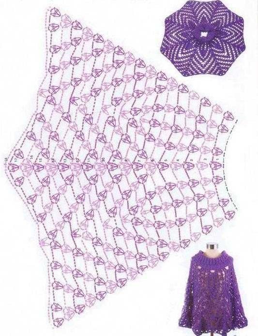Вязание пелерины крючком для женщин, девочек. Простые и красивые накидки, схемы и описание